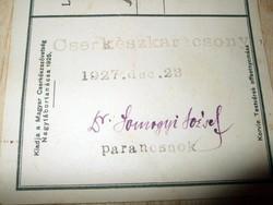 Parancsnok szignója Dr Somogyi József képeslap