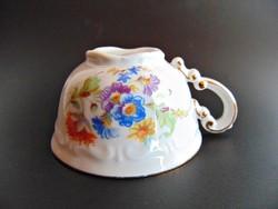 Régi Zsolnay virágos barokk csésze