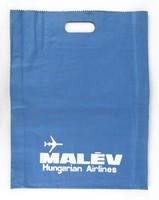 1A307 Retro érdekes kék MALÉV táska 45 x 34.5 cm