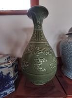 Csodálatos, szeladon mázas kínai váza.
