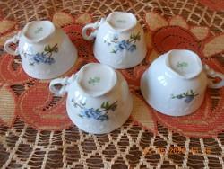 Zsolnay kék Barackvirág mintás kávés csészék