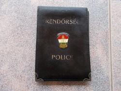 Rendőrsegi igazolvány tartó,fém jelvény