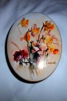 Hummel Galéria-szignált kézzel festett porcelán doboz -