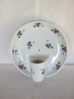 Drasche porcelán ibolyás fali lámpa