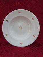 Drasche porcelán mélytányér, virágmintás, Átmérője 23,5 cm.