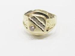 Férfi köves vésett pecsétgyűrű (Bp-Au80997)