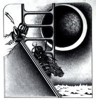 Prutkay Péter: Potyautas, 1976 - sci-fi témájú, eredeti tollrajz