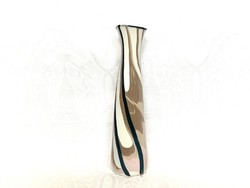 Aquincumi folyatott mázas váza, 23 cm.
