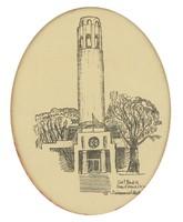 1A449 Keretezett grafika Coit Tower San Francisco