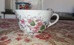 Ritka porcelán Ibolyás csésze, Gyűjtői szépség, paraszti dekoráció
