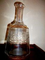 Antik sorszámozott  boros palack-oldalán domború szőlőfürt minta- 1 literes