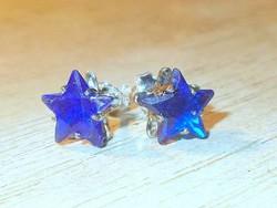 London Kék Topáz köves Csillag 925 ezüst fülbevaló