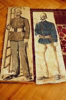 Antik szemléltető tábla 1800-as évek közepéről fali dekorávió loft vintage dekor pull down chart