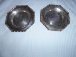 2 db Antik jelzett (Carlisle) alpakka tálka 2200 Ft/db