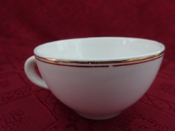 Gránit magyar porcelán, arany szélű teáscsésze, felső átmérője 9,7 cm.