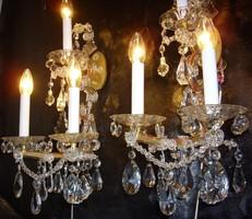 Mária Terézia kristály falikar 2db