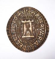 1647-es sárvári pecsét, vagy érem másolata.