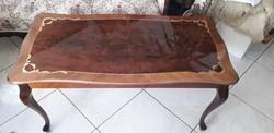 Neobarokk dohányzó asztal ,intarziás