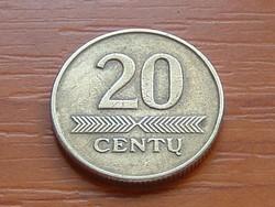 LITVÁNIA 20 CENTU 1997  ( KEDVEZMÉNY LENT!!)