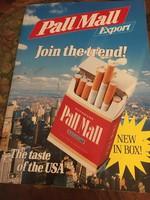 """A Pall Mall magyarországi gyártásakor (1989) készült """"marketing"""" csomag"""