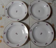 Zsolnay porcelán, ibolyás (mély) tányérok