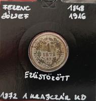 ★1872 Ferenc József 1 Krajcár Ezüstözött★