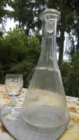 Retro borosüveg dugóval -borospalack  kb.1 l-es