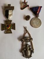 Német-oszták kitüntetés/kitűző 5 darab