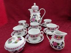 KAHLA minőségi német porcelán hat személyes kávéskészlet.