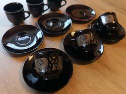 Retro Francia kávés készlet 6 személyes tökéletes állapot hat személy