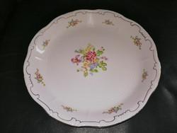 Zsolnay ritka rózsás sültes pecsenyés kínáló porcelán tál