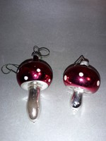 Karácsonyfa dísz üveg gomba gombák