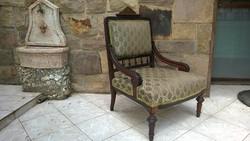 Neoreneszánsz vagy Boulle fotel  1800-as évek 2.fele