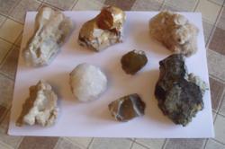 Ásványok, Kőzetek, Fosszíliák / 1,4kg - 1.