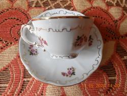 Zsolnay barokk, tollazott, ritka rózsa mintás kávés csésze
