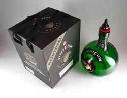 1A671 Hatalmas Unicumos méregzöld üveg palack 5L