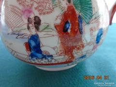 Gésák a kertben Japán kézzel festett  nagy cukortartó