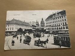 Budapest Deák-tér Anker udvar épülete feltehetően 1890 körüli kép.1908- ban lebontották.
