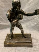 Bokszoló ezüst bevonattal 1929 díj
