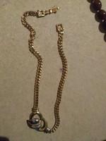 Aranyozott szépséges új arany nyaklánc ingyen postával