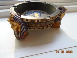 Kézzel készült aranyozott  Tutankhamon Veronese Design 2005 asztaldísz/hamutartó
