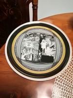 Hollóházi Szász Endre porcelán tányér,falitányér 25 cm Napfény