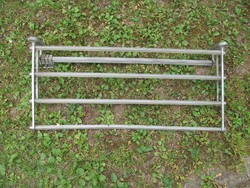 Retro alu kalaptartó, falifogas, fogas (63x29 cm.)