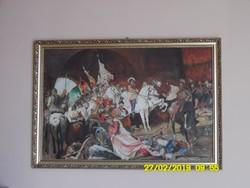 Benczúr Gyula:Buda visszafoglalása Hatalmas akvarell másolat!!