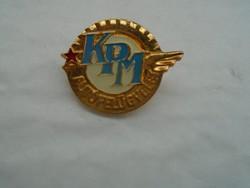 KPM autófelügyelet jelvény.