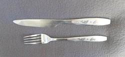 Retro hal, halacska mintás kés és villa együtt