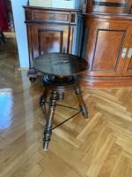Antik csavaros zongora szék