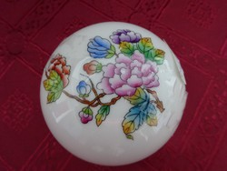 Herendi porcelán, Viktória mintás bonbonier. Átmérője 7,5 cm.