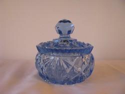 Kék üveg  cukortartó