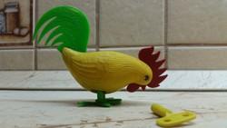 Retro, felhúzható műanyag csipegető kakas  eladó!